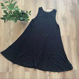 TNA Black T-Shirt Dress (Aritzia)